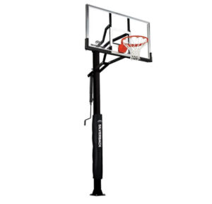 Silverback 60 In-Ground Basketball Hoop, Adjustable Height Tempered Glass Backboard and Pro-style flex Rim