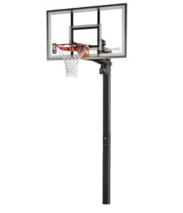 Spalding NBA Aluminum Trim Glass Backboard In-Ground Basketball System